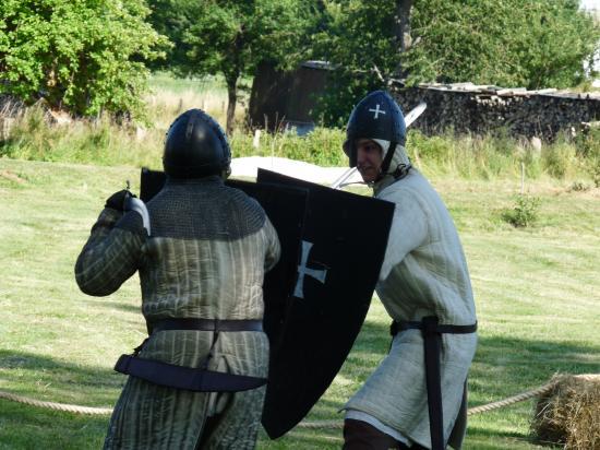 Combat de chevaliers hospitaliers