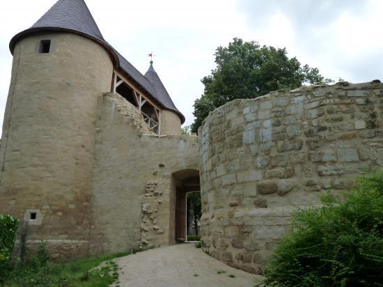 Vue sur le château des Evêques de Metz