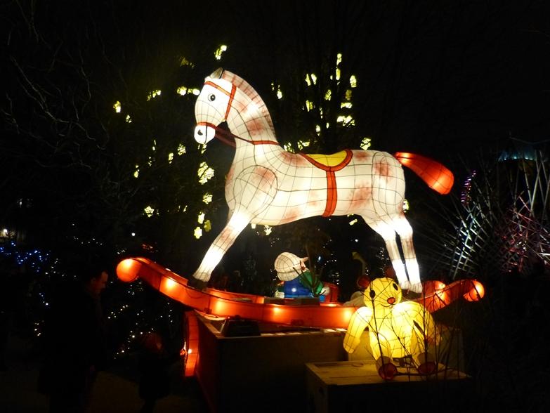 Cheval sentier lanternes metz